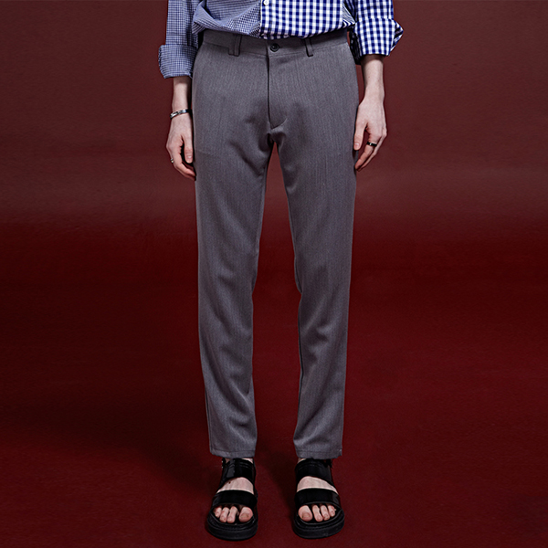 [DEANS] HIGH-END STRAIGHT SLACKS_GRAY