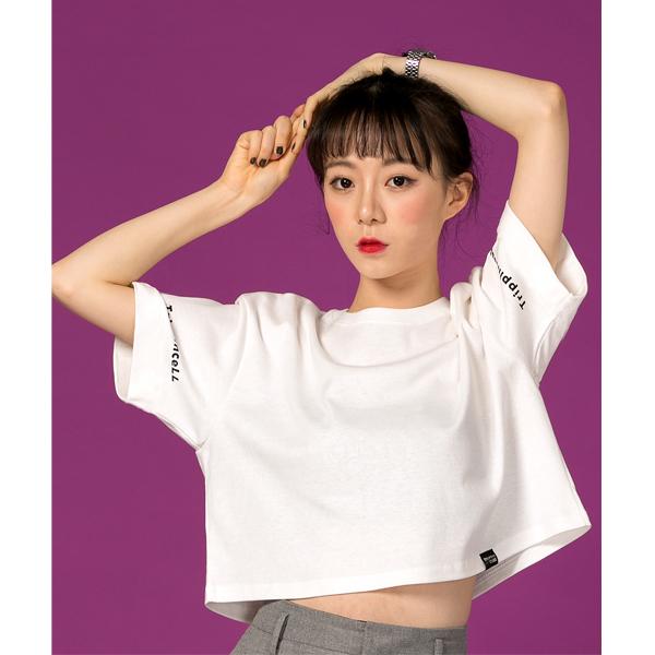 Twin Crop Tee (off white) 트윈 크롭 프린팅 반팔 티셔츠 오프 화이트