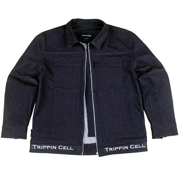New Tripping Denim Jacket (black) 데님 청 자켓 트러커 블랙