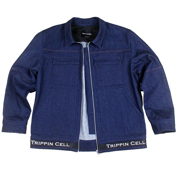 New Tripping Denim Jacket (dark blue) 데님 청 자켓 트러커 다크 블루