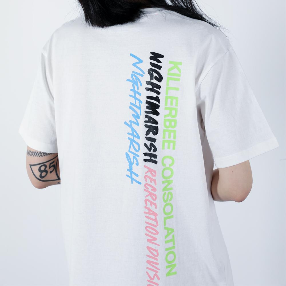 킬러비 컬러로고 티셔츠 (화이트)