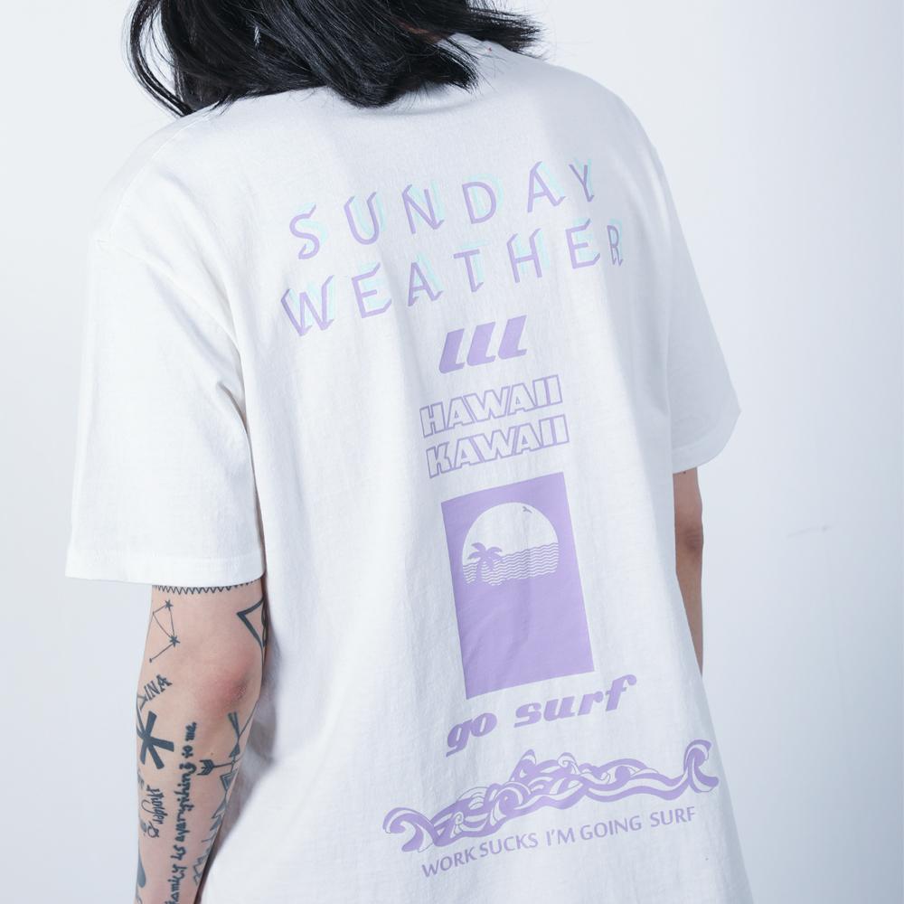 선데이웨더 오버사이즈 티셔츠 (화이트)