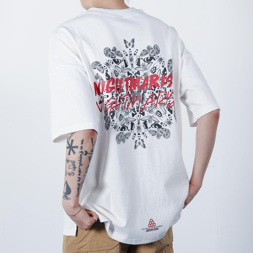 나이트메리쉬 나비 티셔츠 (화이트)