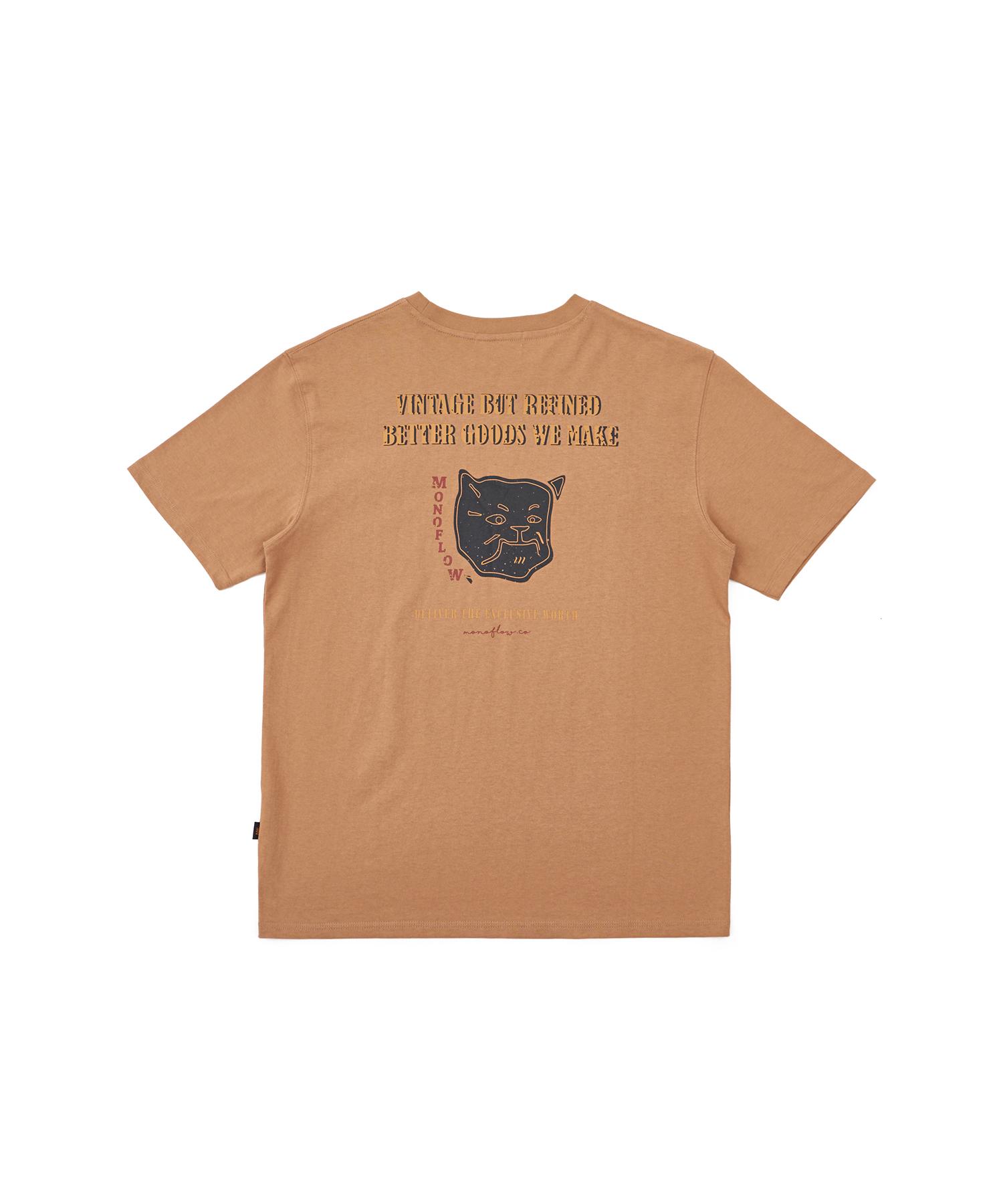 모노플로우 도그프린트 반팔 티셔츠 Dog print TS(1)