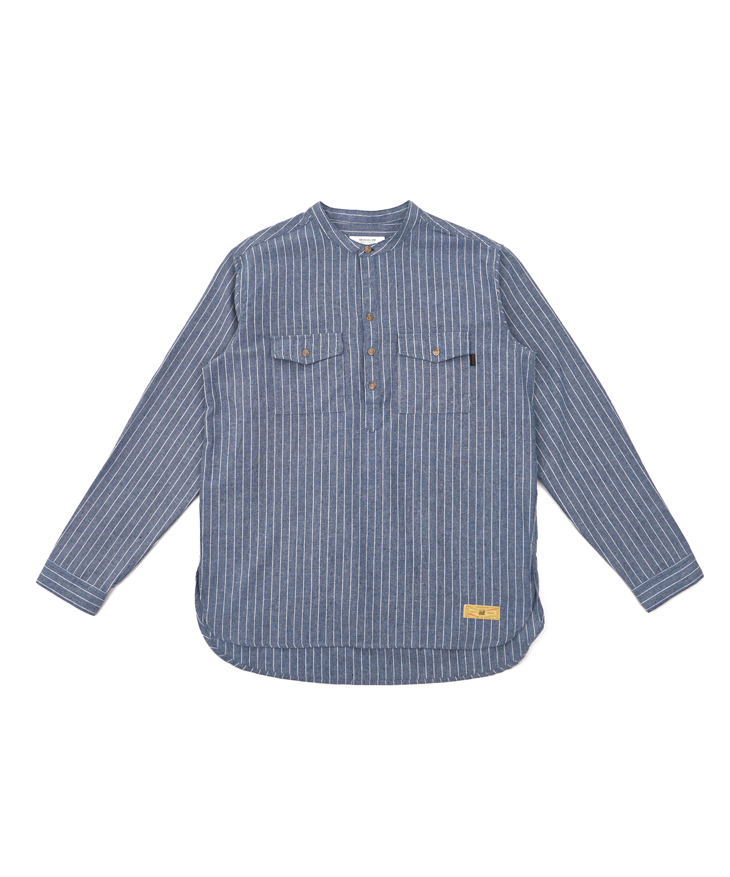 모노플로우 스트라이프 차이나카라 풀오버 셔츠 STRIPE CHINA PULLOVER