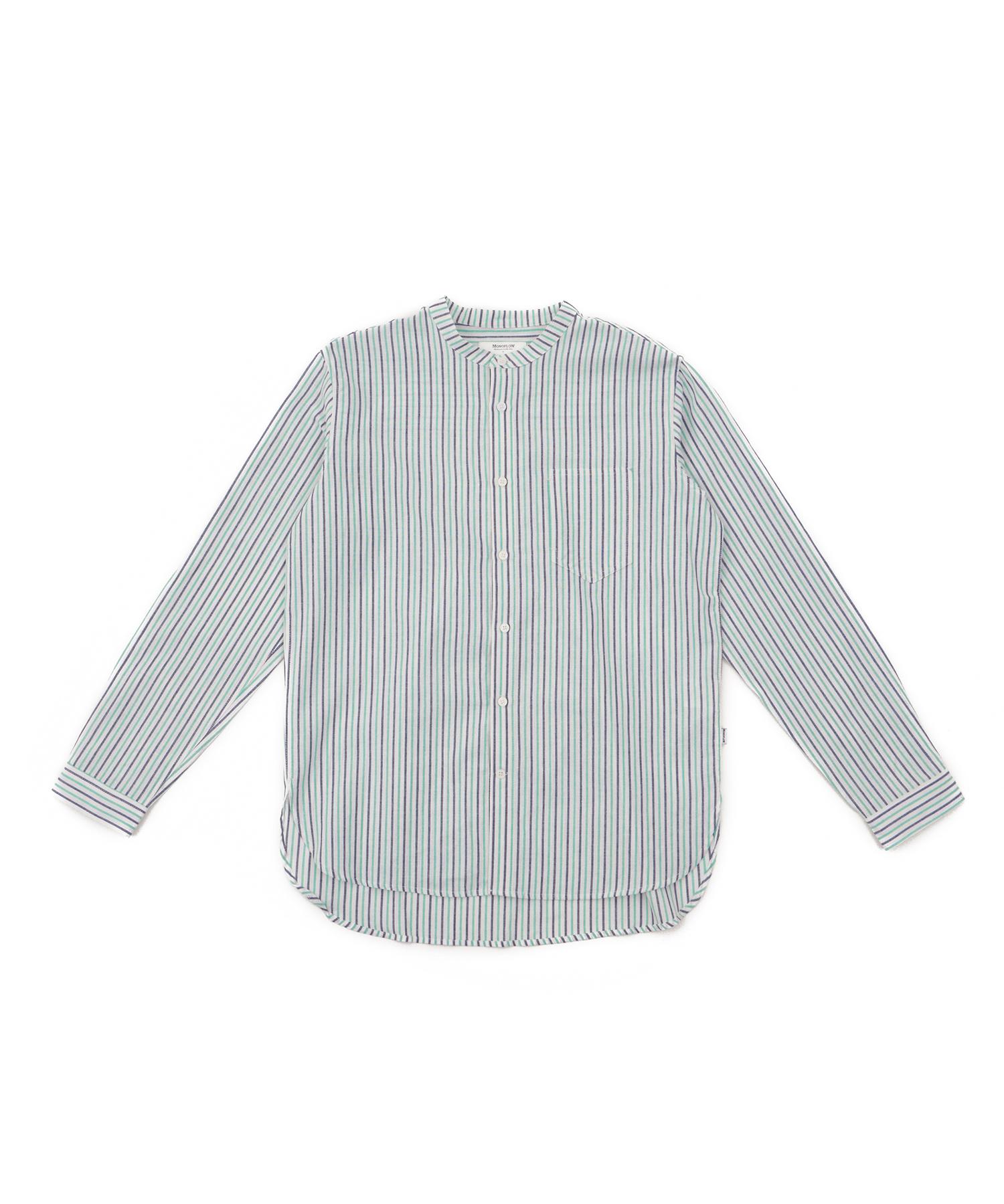 모노플로우 멀티 스트라이프 차이나카라 셔츠 MULT-STRIPE CHINA SH