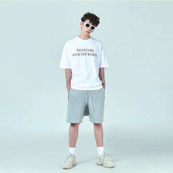 [데드엔드] GRAY DRAWSTRING SHORT PANTS