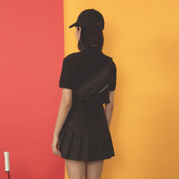 [UNDERCROSS]롤리 웨이스트백 모노블랙
