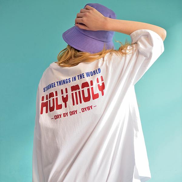[남녀공용]빅 오버핏 반팔 티셔츠 화이트