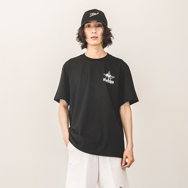 [144]PALM TREE SHORT SLEEVE(BLACK)