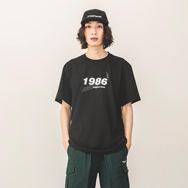[142]1986 SHORT SLEEVE(BLACK)