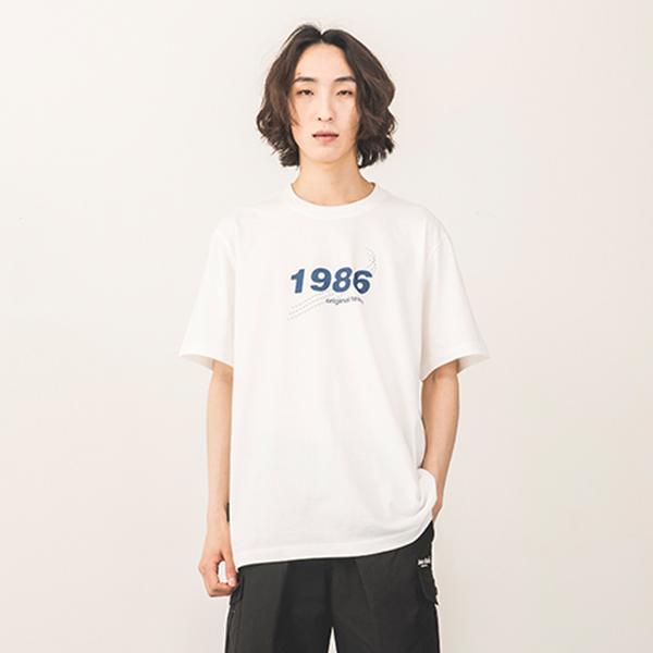 [바시티 씬 착용][142]1986 SHORT SLEEVE(IVORY)