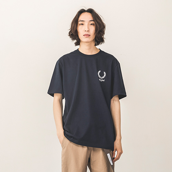 [140]LAUREL CROWN SHORT SLEEVE(NAVY)