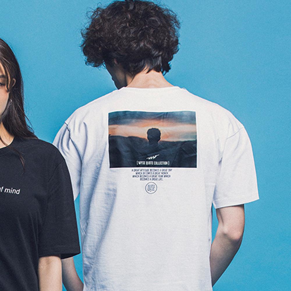 [와이즈] WYSE - QUOTE COLLECTION #1 TEE (WHITE) 반팔 반팔티 티셔츠