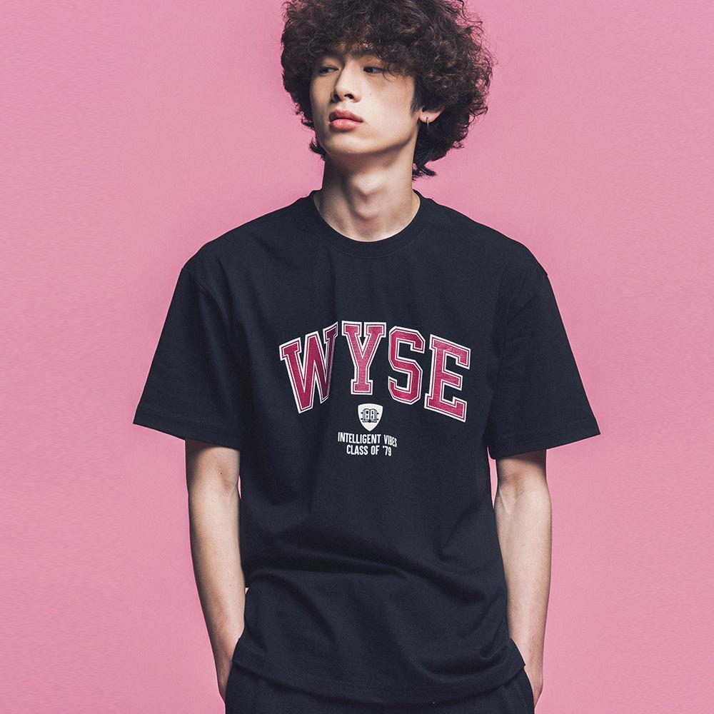 [와이즈] WYSE - COLLEGE TEE (BLACK) 반팔 반팔티 티셔츠