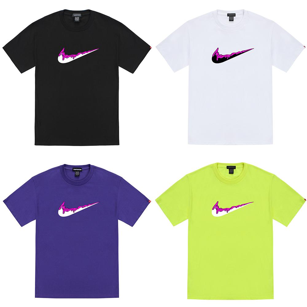 [단독할인]핑크 치약 밴딩 티셔츠 - 8컬러