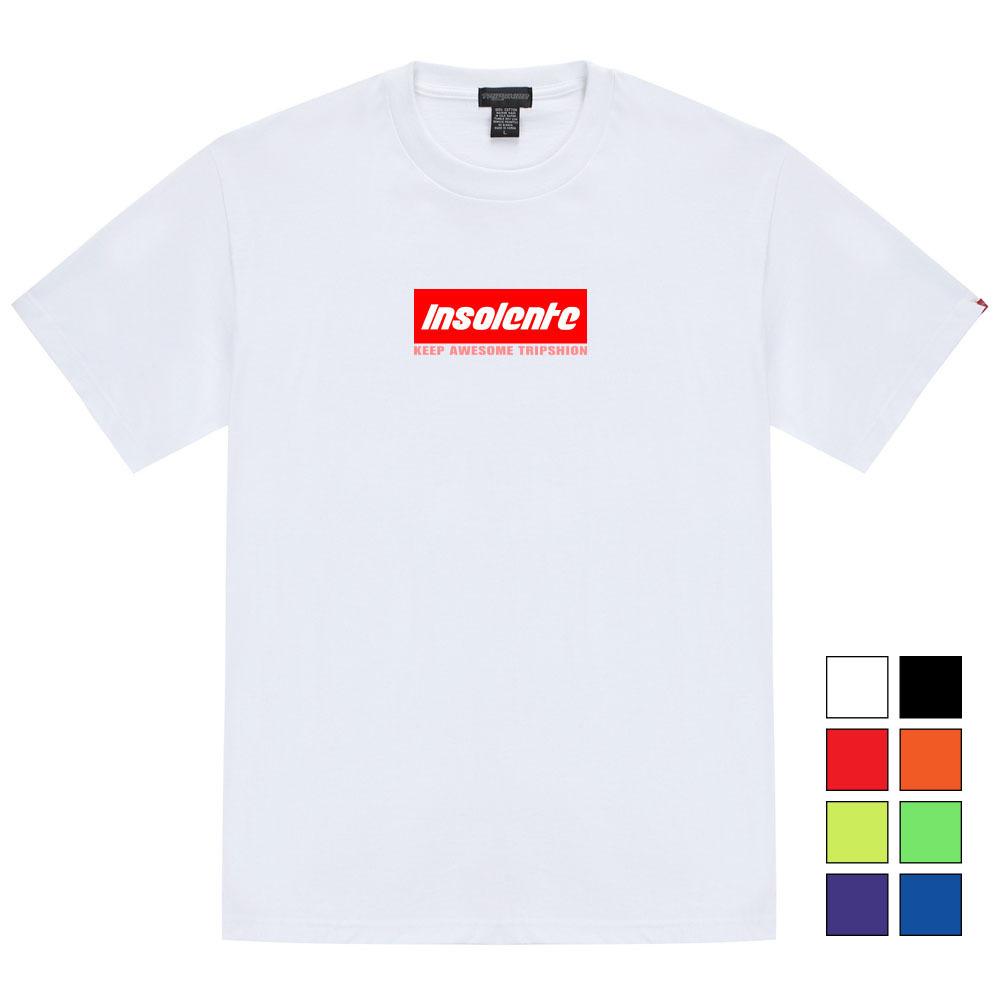 [단독할인]인솔렌 박스로고 티셔츠 - 8컬러