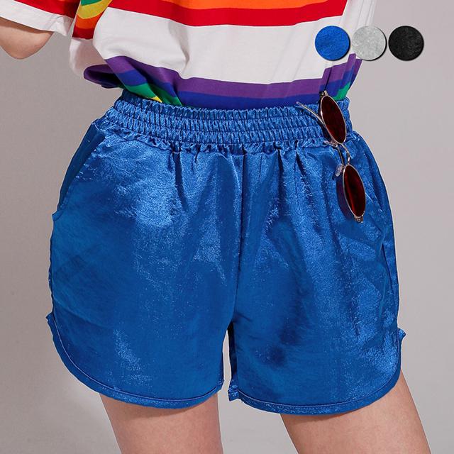 Shining Satin Gym Shorts(3color)