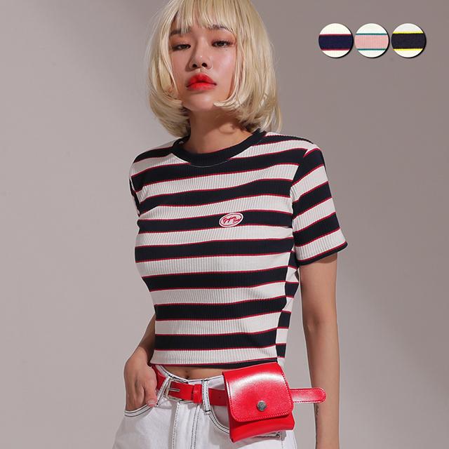 Mini Striped Crop Top(3color)