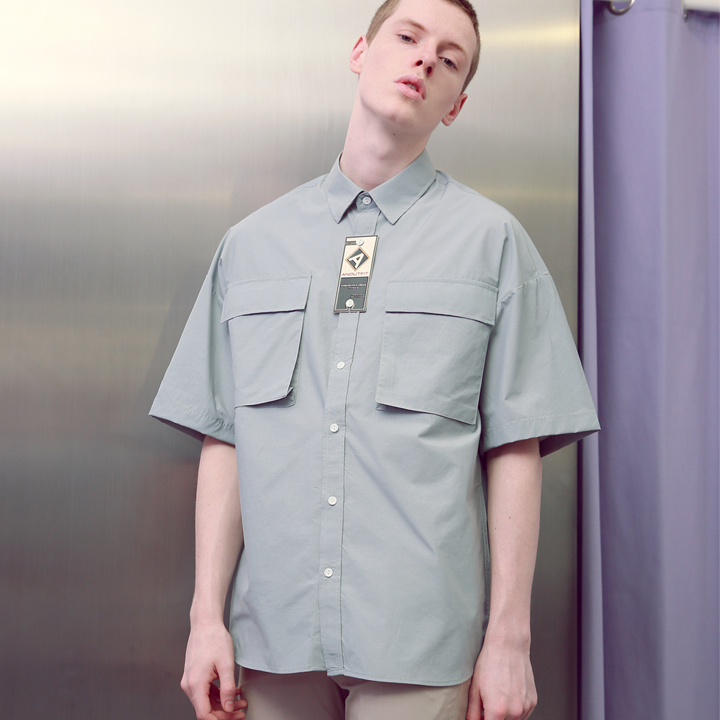 UNISEX TWO POCKET SHIRTS MINT