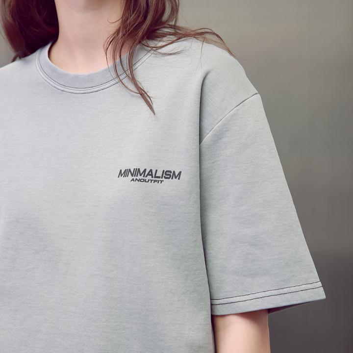 UNISEX MINIMALISM PIGMENT T-SHIRTS GREY