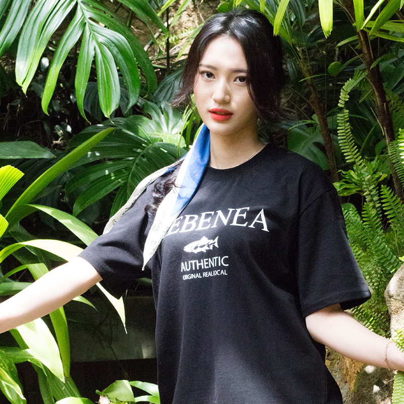 [Lebenea] Lovely Salmon T-shirt_black