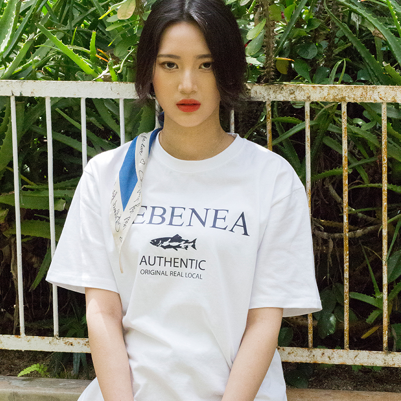 [Lebenea] Lovely Salmon T-shirt_white