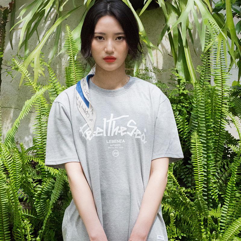[Lebenea] Feel The Sea T-shirt_gray