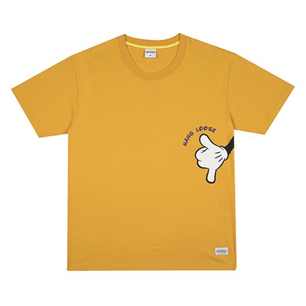 HANG LOOSE t-shirt yellow