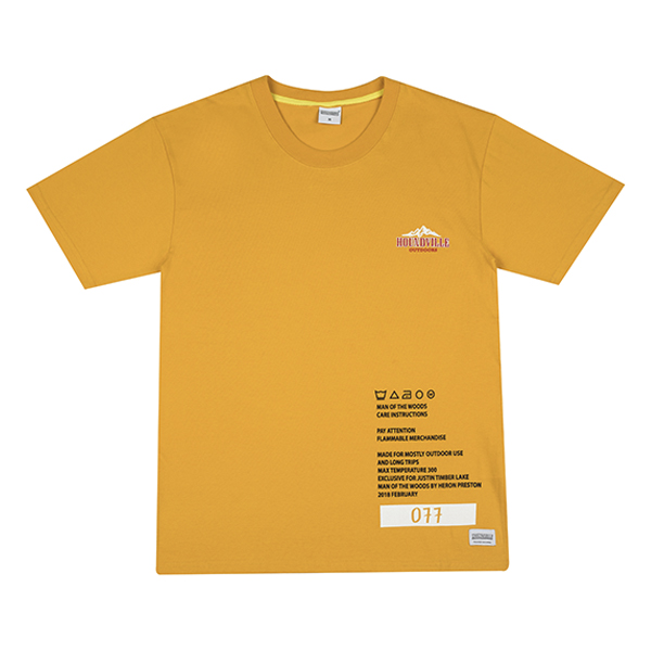 WOODS TOUR t-shirt yellow