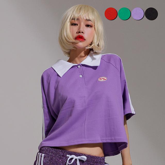 Double Point Crop shirt(4color)