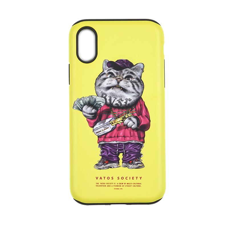 STIGMA PHONE CASE CATSGANG YELLOW iPHONE 7 / 7+ / 8 / 8+ / X