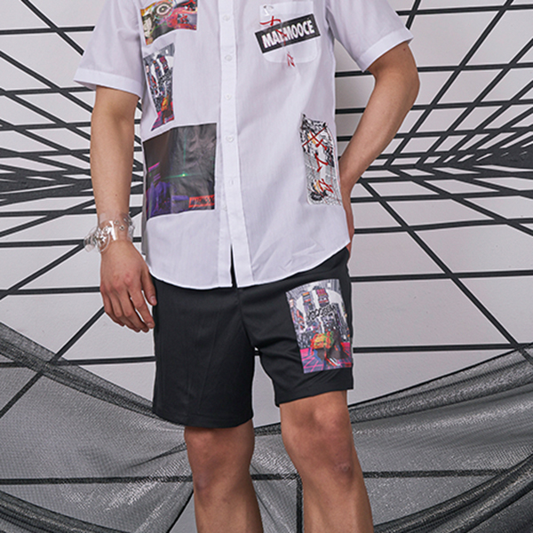 [MAEMOOCE]メムセ MAEMOOCE_Downtown Basket shorts