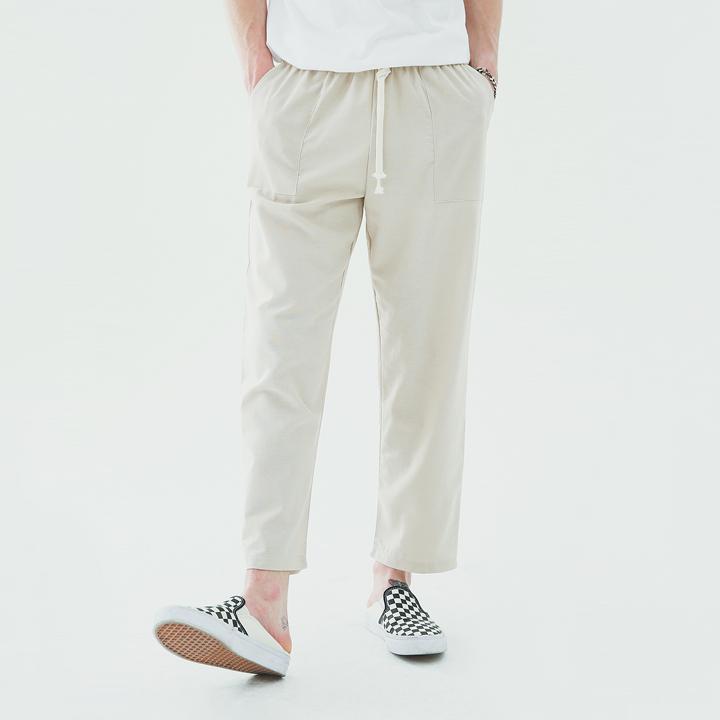 Fatigue linen banding pants(beige)