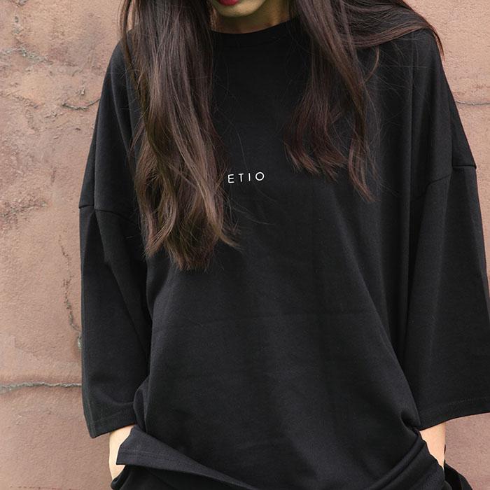 블랙 6부 에티오 티셔츠