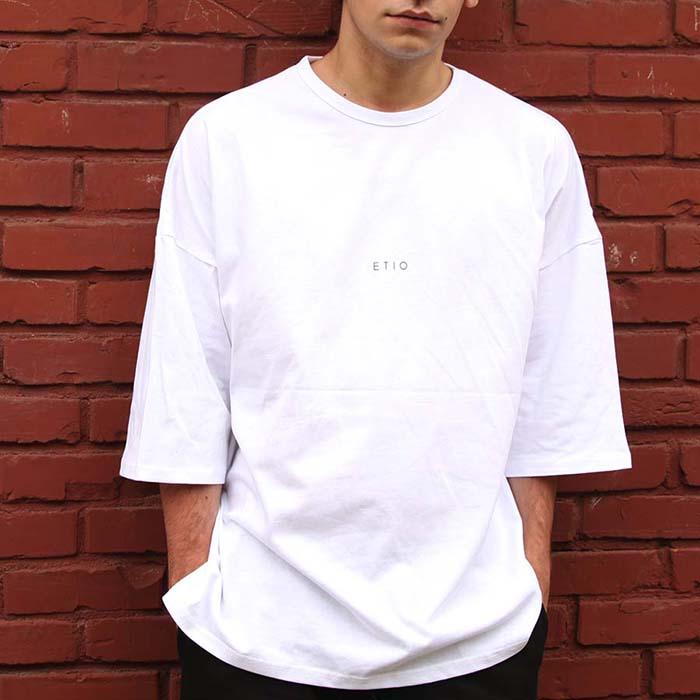 화이트 6부 에티오 티셔츠