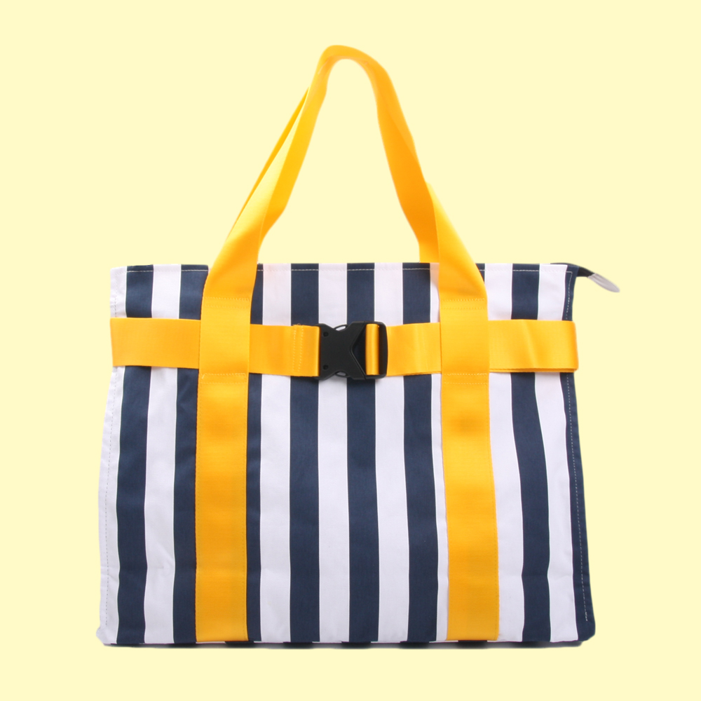 +82 T.D&M.G BAG_NAVY WHITE STRIPE
