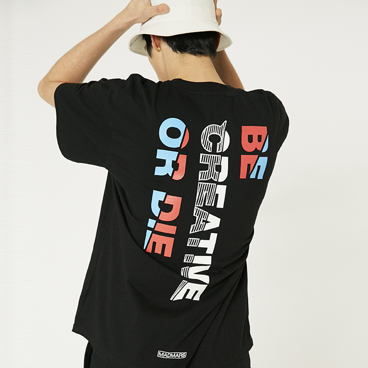 OBLIQUE T-SHIRTS_BLACK