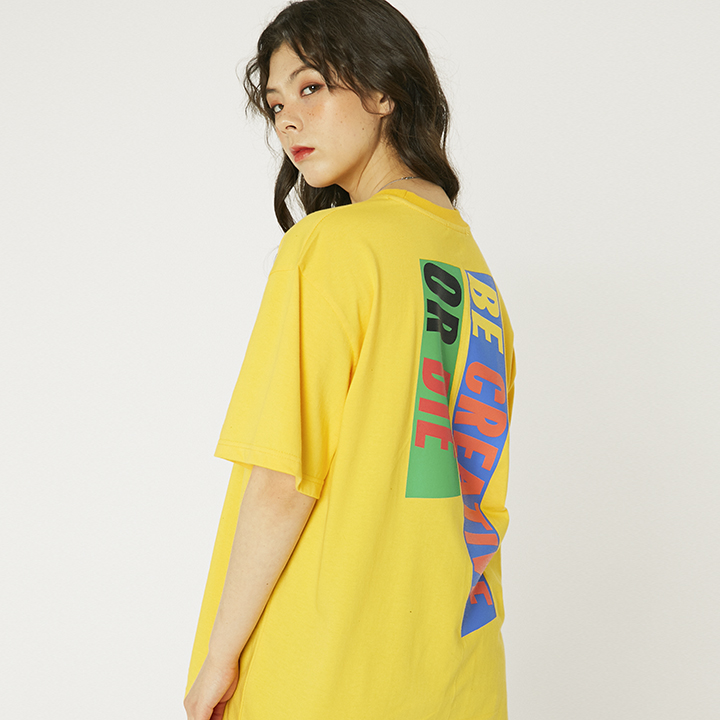 6 SLOGAN T-SHIRTS_YELLOW