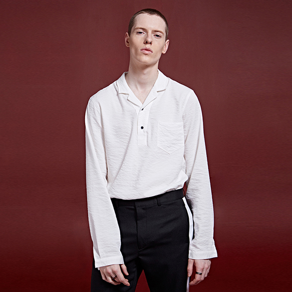 [DEANS] OPEN COLLAR BUTTON SHIRTS_WHITE