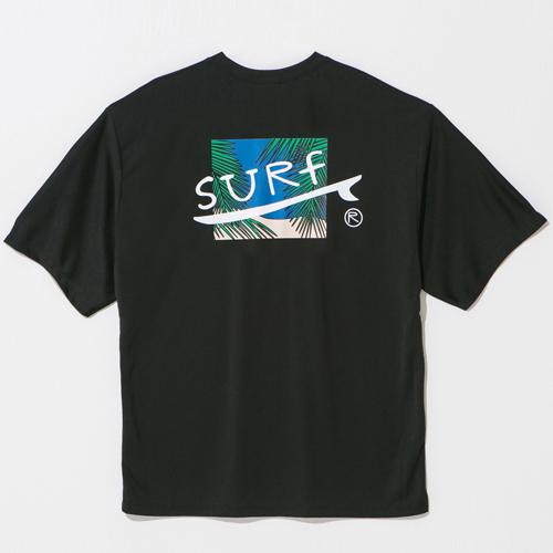 [UNISEX]오버핏 서프 반팔티 블랙