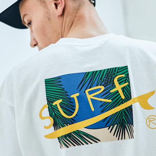 [UNISEX]오버핏 서프 반팔티 오프화이트
