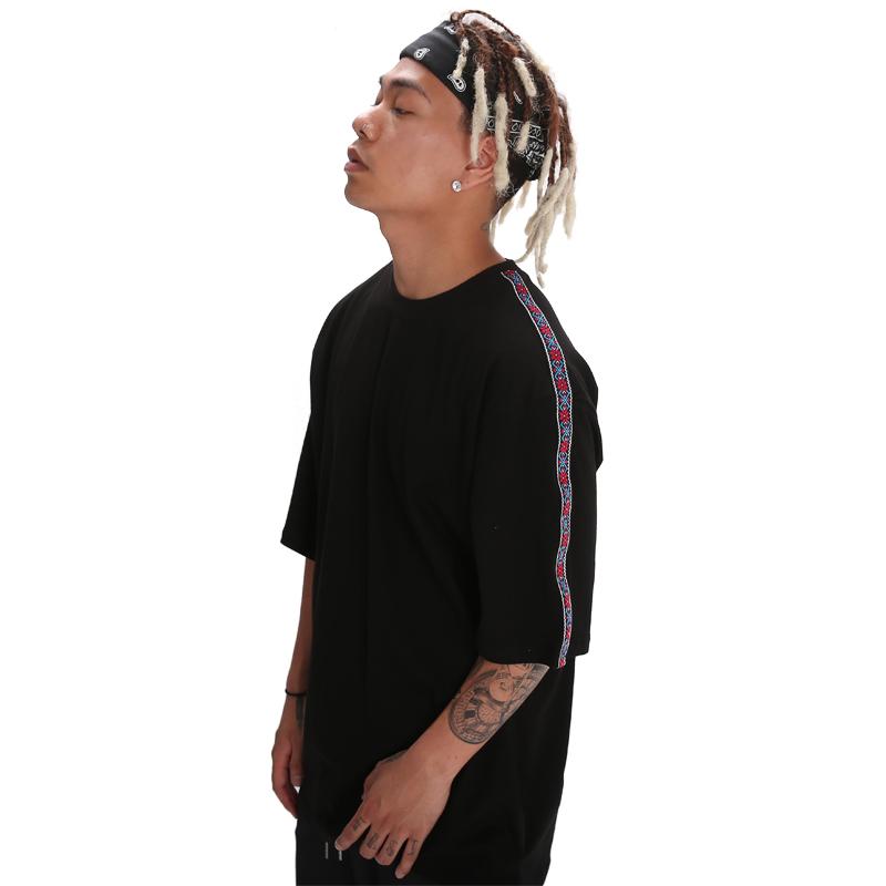 POWIT Ethnic Line T-Shirts(Black)