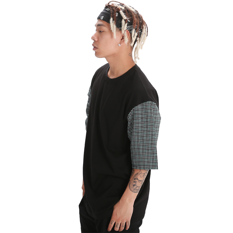 POWIT Check Block T-Shirts(Green)