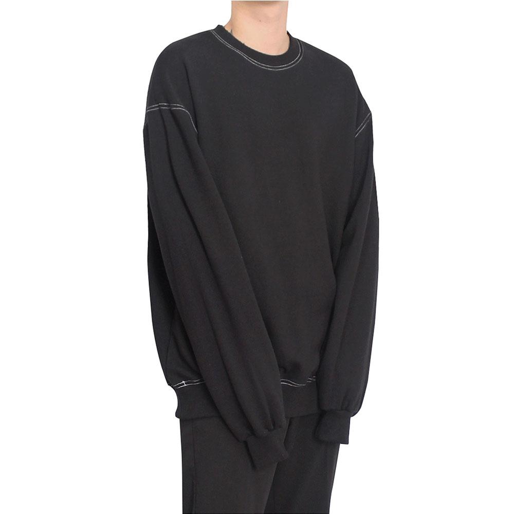 [클라코] 스티치 맨투맨 V2 (블랙)