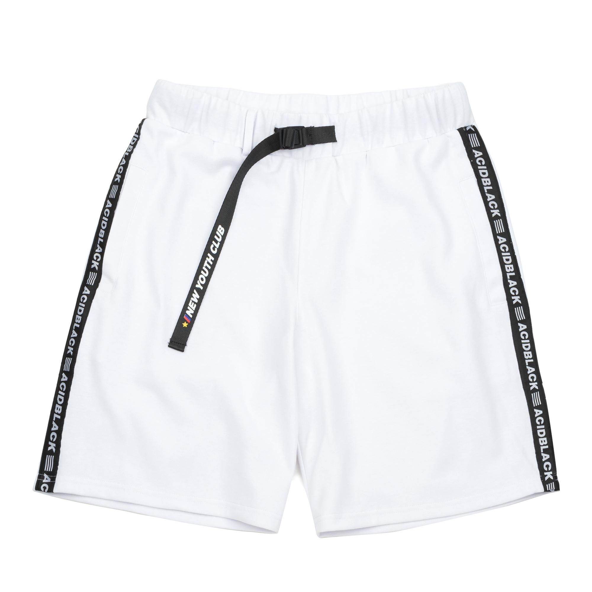 [에시드블랙] ACIDBLACK - ACID MAX HALF PANTS (WHITE) 반바지 하프팬츠