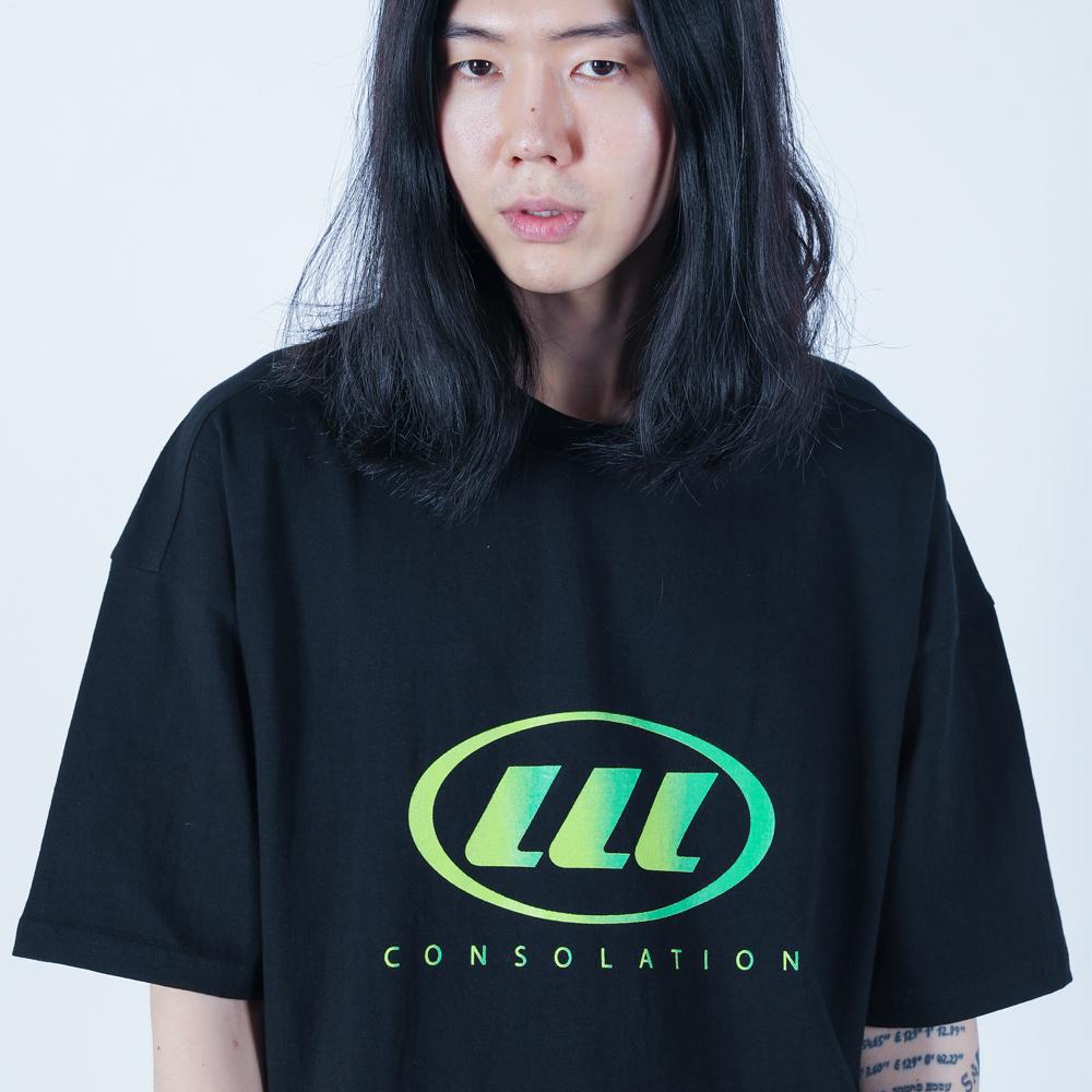 LLL 그라데이션 로고 티셔츠 (블랙)