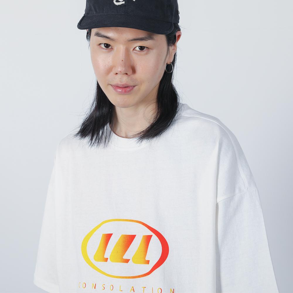 LLL 그라데이션 로고 티셔츠 (화이트)