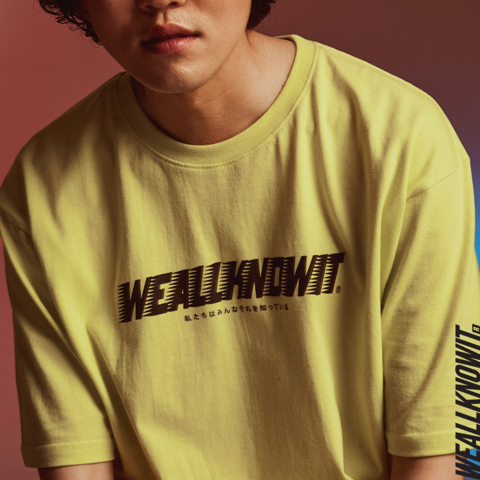 [위올노잇]WEALLKNOWIT 신상 반팔 티셔츠 WS101-라임