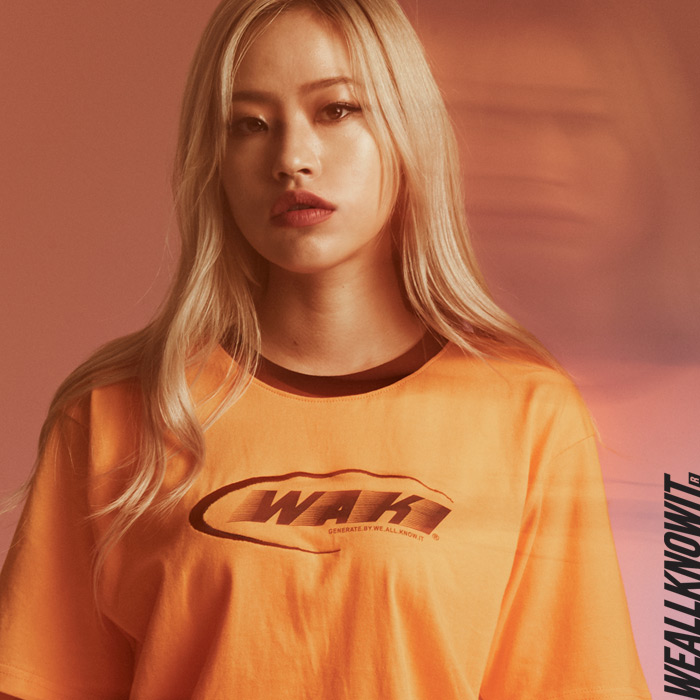 [위올노잇]WEALLKNOWIT 신상 반팔 티셔츠 WS102-오렌지